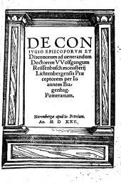De conjugio episcoporum et Diaconorum