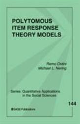 Polytomous Item Response Theory Models Book PDF