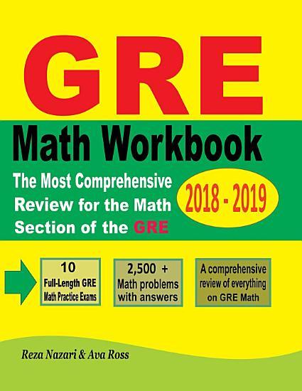 GRE Math Workbook 2018   2019 PDF