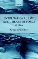 International Law and the Use of Force PDF