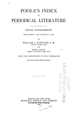 Poole's index to periodical literautre: Volume 6