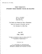 Transit Productivity PDF
