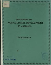 Overview Of Agricultural Development In Jamaica Book PDF