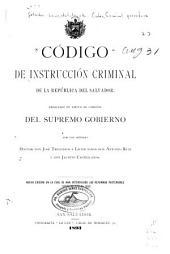 Código de instrucción criminal de la República del Salvador