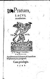 Pratum: Lacus ; Arundinetum