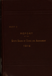 Annual Report of the State Board of Taxes and Assessment: Part 2