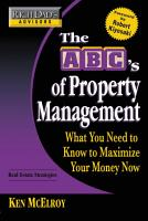 Rich Dad s Advisors  The ABC s of Property Management PDF