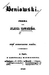 Beniowski: poema