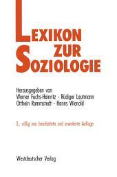 Lexikon zur Soziologie: Ausgabe 3