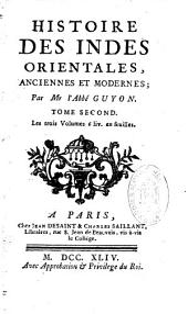 Histoire des Indes orientales anciennes et modernes par M. l'abbé Guyon