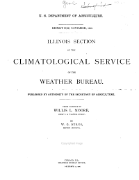 Report  with Annual Summary  for      of The  Illinois Section of the Climatological Service of the Weather Bureau PDF