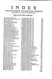 Complectens Constitutiones Clementis XII. ab Anno I. usque ad IV.: 13