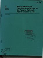 Railroad Employee Fatalities Investigated PDF