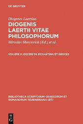 Excerpta Byzantina et Indices