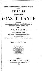 Histoire de l'assemblee constituante: Volume3