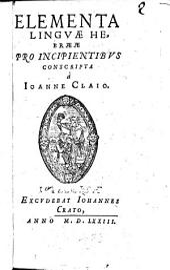 Elementa Linguae Hebraeae