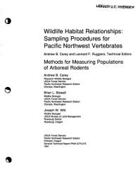 Methods for Measuring Populations of Arboreal Rodents PDF