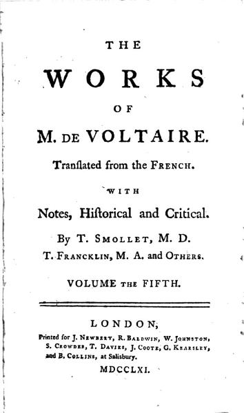 Download The Works of M  de Voltaire  The ancient and modern history Book