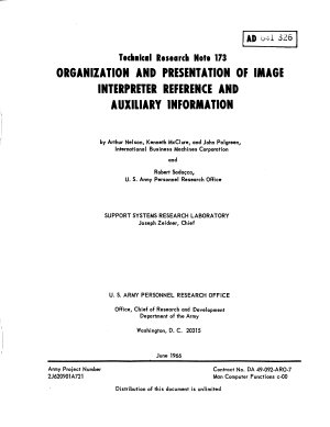 Organization and Presentation of Image Interpreter Reference and Auxiliary Information