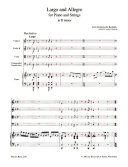 Largo and allegro for piano and strings, in D minor