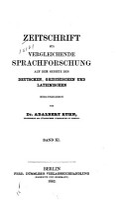 Zeitschrift f  r vergleichende Sprachforschung PDF