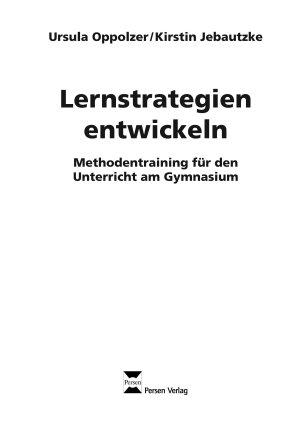 Lernstrategien entwickeln PDF