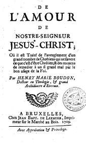 De l'amour de nostre-seigneur Jesus-Christ
