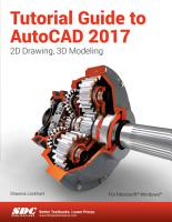 Tutorial Guide to AutoCAD 2017 PDF