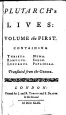 Plutarch's Lives in Eight Volumes