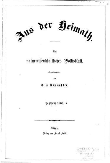 Aus der Heimath PDF
