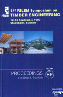PRO 8: 1st International RILEM Symposium on Timber Engineering