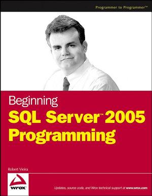 Beginning SQL Server 2005 Programming PDF