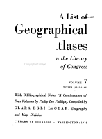 A List of Geographical Atlases in the Library of Congress  Titles 10255 18435 PDF