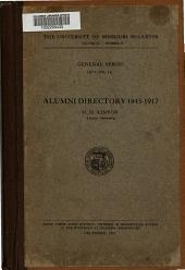 Alumni Directory, 1843-1917