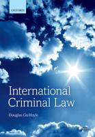 International Criminal Law PDF