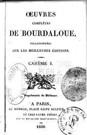 Oeuvres complètes de Bourdaloue: Volumes3à4
