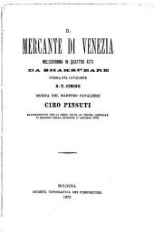 Il mercante di Venezia: melodramma in quattro atti : rappresentato per la prima volta al Teatro Comunale in Bologna nella stagione d'autunno 1873