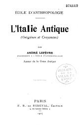 L'Italie antique (origines et croyances)