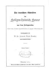 Die deutschen Schriften des seligen Heinrich Seuse aus dem Predigerorden: Band 1,Ausgabe 1