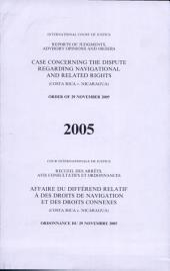 Affaire Du Différend Relatif À Des Droits de Navigation Et Des Droits Connexes (Costa Rica C. Nicaragua)
