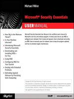 Microsoft Security Essentials User Manual (Digital Short Cut), e-Pub