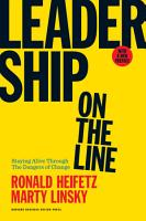 Leadership on the Line  With a New Preface PDF