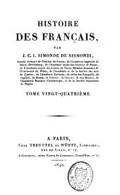 Histoire des Français: Volume24