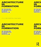 Architecture in Formation PDF