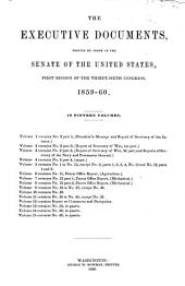Senate Documents: Volume 110; Volume 125