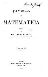 Rivista di matematica: Volume 3