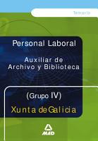 Auxiliar de Archivo Y Biblioteca de la Xunta de la Galicia  Grupo Iv Temario Ebook PDF