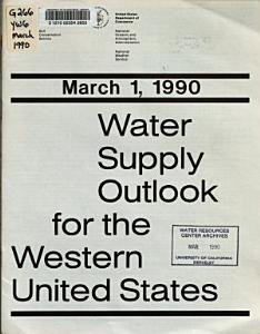 Water Supply Outlook for the Western United States PDF