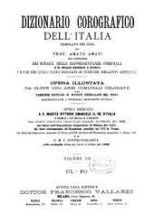 Dizionario corografico dell'Italia: opera illust[r]ata da altre 1000 armi comunali colorate .... Cl-Fo. III.