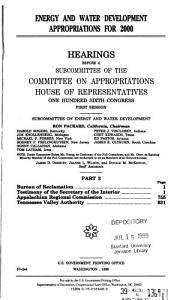 106 1 Hearing  Energy and Water Development Appropriations for 2000  Part 3  March 25  1999